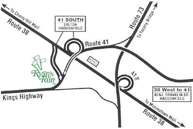 Ryan's Run Apartments community map