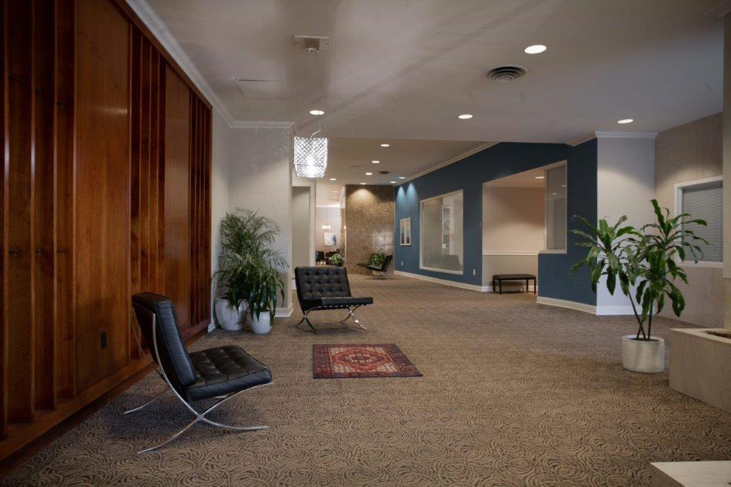 modern common space in the lobby