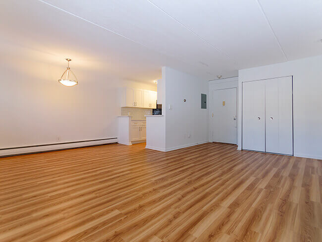 Open floor plan room